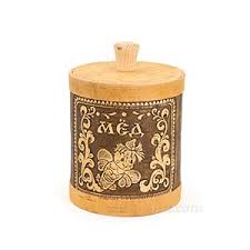 to buy russian birch bark kitchen jars for honey in