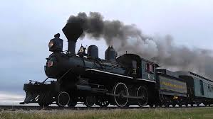 134 year old prairie dog central steam train w wooden coaches and