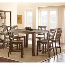 7 Piece Dining Room Set Hillsdale Pine Island 7 Piece Round Dining Set With Ladder Back