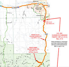 map of highway 395 oregon wildfire damage to highway closure my columbia basin