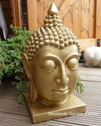 enigma buddha bust gold home or garden ornament woodside