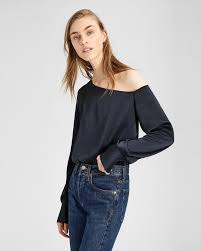 one shoulder blouse one shoulder blouse theory