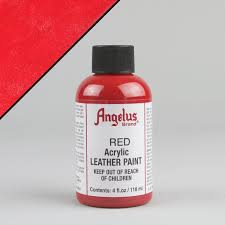 red paint angelus leather paint 4oz red street lab uk