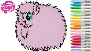 my little pony coloring book fluffle puff mlp