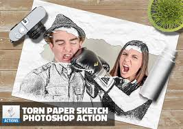 free photoshop sketch action psddude