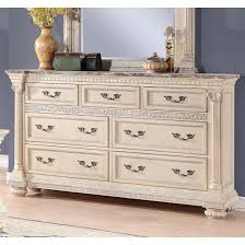 homelegance russian hill bedroom set in antique white finish for