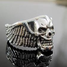 silver rings skull images 925 sterling silver skull wing ring winged skull ring skull jpg