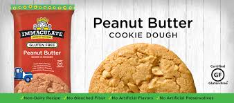 gluten free peanut butter cookie dough immaculate baking company