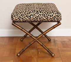 living room square leopard print ottoman coffee table with metal