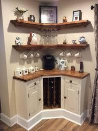 kitchen corner furniture built in corner coffee wine bar home wine
