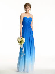 fading color sweetheart long pleated bridesmaid dress tbdress com