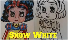 draw snow white cute easy cartoon 6