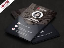 Studio Visiting Card Design Psd Modern Business Card Free Psd Template Download Download Psd