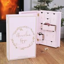 wood advent calendar personalised wooden advent calendar book by angel