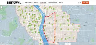 Portland Transit Map by Super Hub Zones Biketown