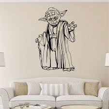 Decoration Star Wall Decals Home by Aliexpress Com Buy Star War Jedi Master Yoda Carved Wall