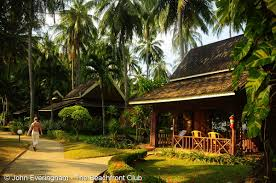 simple brick and bamboo bungalow resort at haad salad on koh