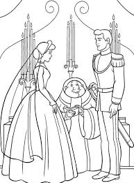 prince dancing with cinderella coloring pages for kids cartoon