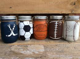 painted mason jars sports jars bathroom bedroom party decor