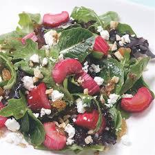 roasted rhubarb salad recipe eatingwell