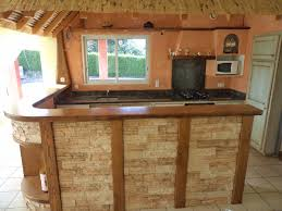 comptoir cuisine bois agencement