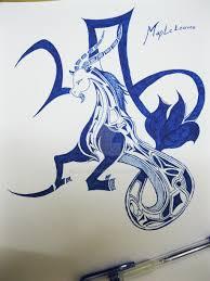 tribal capricorn tattoo by mapleeos on deviantart