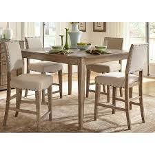 counter dining chairs winners only xcalibur 6 piece counter height dining set hayneedle