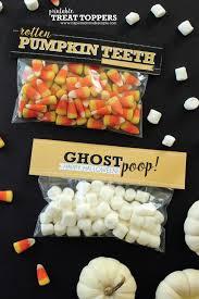 halloween treat bag toppers bag toppers free printable and bag