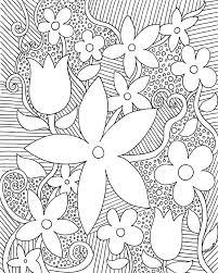 Free Coloring Pages For Adults Trees Flowers Coloring Book Page