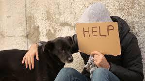 Seeking Hd Poor With Cardboard Sign Seeking Help Stock Footage