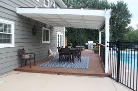 Pergola Off House by The Big Backyard Reveal So Many Updates 12 Oaks