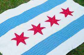 Chicagos Flag Miss Sews It All The Birthday Quilt