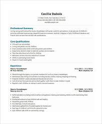 housekeeping resume samples unforgettable housekeeper resume