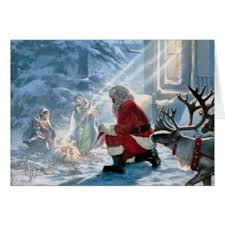 santa and baby jesus picture baby jesus greeting cards zazzle