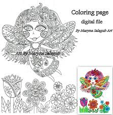 flower fairy coloring page magical art download print and