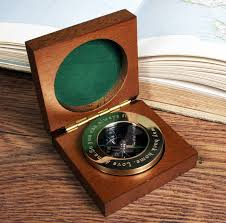 Brass Desk Accessories by Personalised Brass Compass Paperweight With Wooden Box By