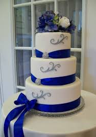 royal blue and silver wedding royal blue white and silver wedding cakes melitafiore