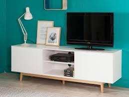 tv cuisine delightful cuisine bois et blanc laque 6 meuble tv 2 portes 2