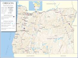 oregon map oregon state map oregon state road map map of oregon