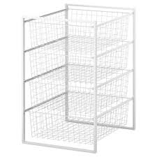 storage shelves with baskets antonius frame and wire baskets ikea