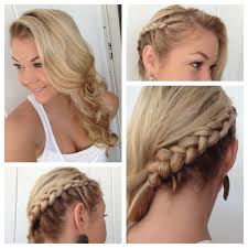 braids and curls to the side short 12 pretty braided hairstyles