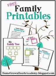 family book free printable free printable families and book