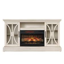 shop duraflame 62 in w 5200 btu weathered white wood flat wall