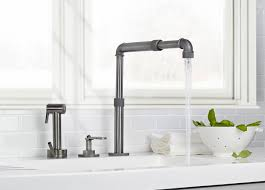 sinks faucets gold metal finish industrial style kitchen faucet