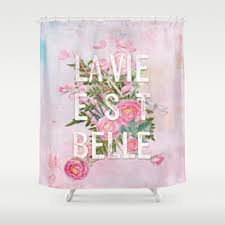 Pink Flower Shower Curtain Belle Shower Curtains Society6