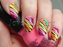 love4nailart easy neon animal print nail art for summer tutorial