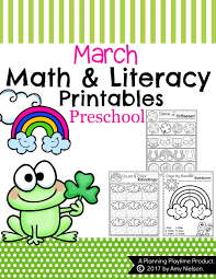 march preschool worksheets planning playtime