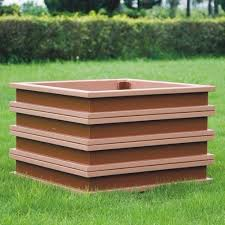 Cheap Planter Boxes by Wood Plastic Panel Flower Boxes Outdoor Wooden Flower Boxes