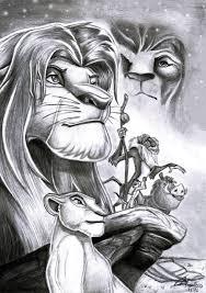 lion king blakc u0026 white sketch drawings pinterest lions