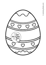 easter egg coloring pages for kids prinables free 01